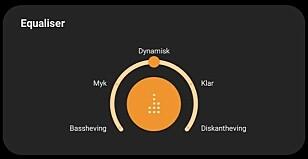 <strong>TAMT UTEN:</strong> Den oransje knappen er det bare å trykke på og velge en av de fem forhåndsinnstillingene. Vi holder en knapp på den midterste. Foto: Pål Joakim Pollen