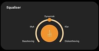 TAMT UTEN: Den oransje knappen er det bare å trykke på og velge en av de fem forhåndsinnstillingene. Vi holder en knapp på den midterste. Foto: Pål Joakim Pollen
