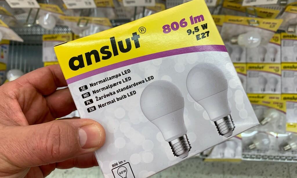 PRISTEST LYSPÆRE: Vi har sjekket prisene og lyspæreutvalget i ytterligere tre butikker. Foto: Bjørn Eirik Loftås.
