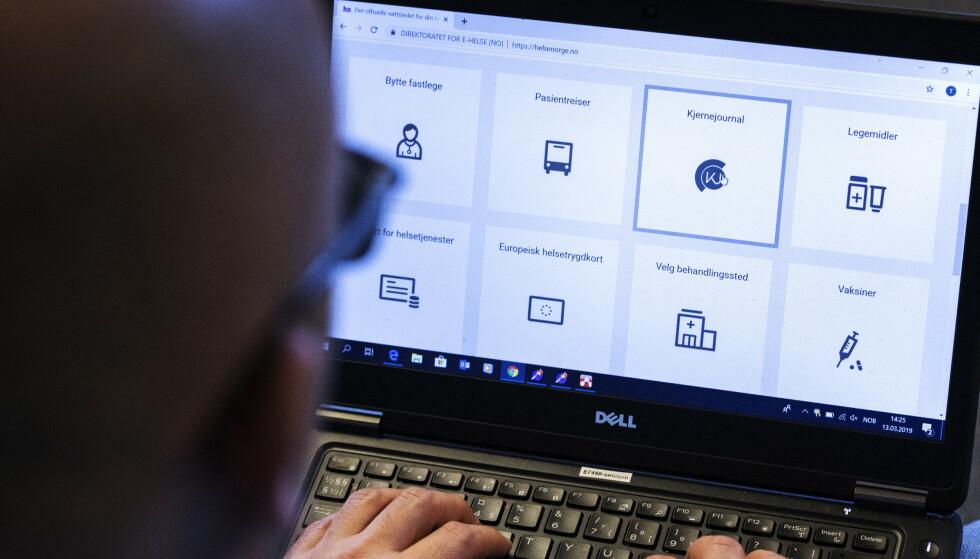 FASTLEGE PÅ NETT: Nasjonale e-helseløsninger øker kraftig i bruk. Foto: Gorm Kallestad/NTB scanpix