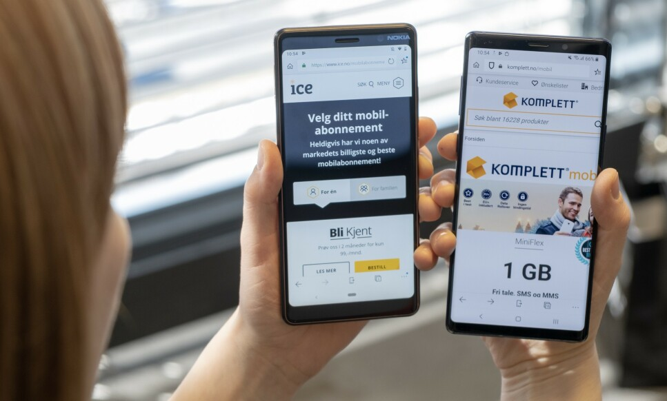 FLYTTES: Neste måned starter migreringen av Komplett Mobil-kunder til Ice. Foto: Martin Kynningsrud Størbu