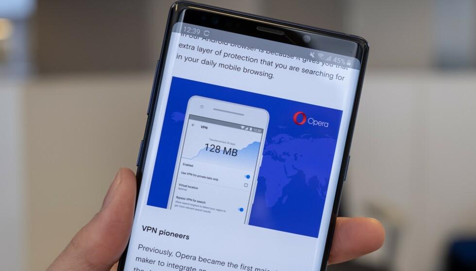 VPN: Opera på Android får innebygget VPN. Foto: Martin Kynningsrud Størbu