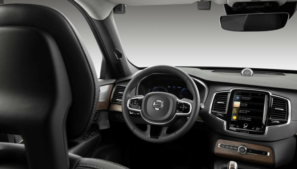 SIKKERHET: Volvo skal innføre kupékameraer og sensorer i kommende biler. Foto: Volvo Cars.