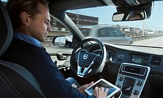 IKKE SELVKJØRENDE: I Volvos Drive Me-prosjekt skulle 100 selvkjørende biler gå i trafikk i og rundt Gøteborg fra 2017. Det skjedde ikke. Foto: Volvo