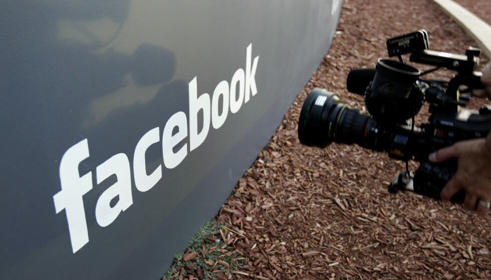 FACEBOOK: Sikkerhetsselskap har avslørt at flere hundre millioner Facebook-passord lå på en søkbar server. Foto: Paul Sakuma/AP
