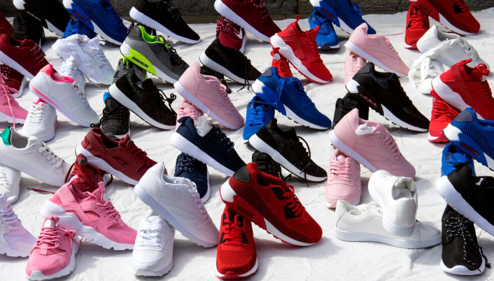 SKO TOPPER LISTA GLOBALT: Globalt sett er det mest handel med piratvarer av sko. I Europa har det skjedd en endring, og problemet er størst innenfor mat og drikkevarer. Foto: Shutterstock/NTB scanpix
