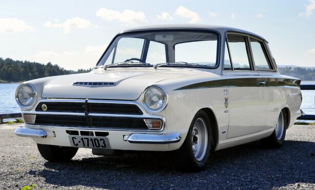 ORIGINAL: Det finnes mange kopier. De ekte Lotus Cortina biler er verdt en liten formue. Foto: Stein Inge Stølen