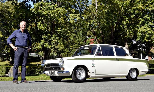 RALLY-KLASSIKER: Eier Holm Jacob Matheson har  fått bilen tilbake i original Gruppe 2-spesifikasjon. Foto: Stain Inge Stølen