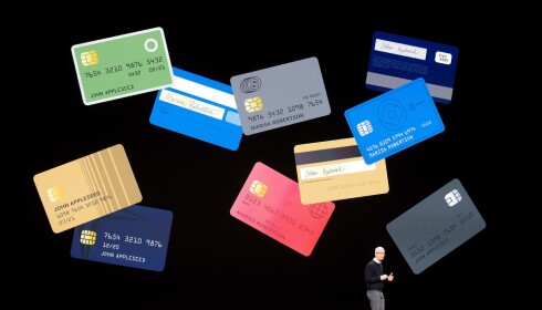 APPLE CARD: Apple har lansert et kredittkort for iPhone kalt Apple Card. I første omgang kommer det kun til USA. Foto: NTB Scanpix