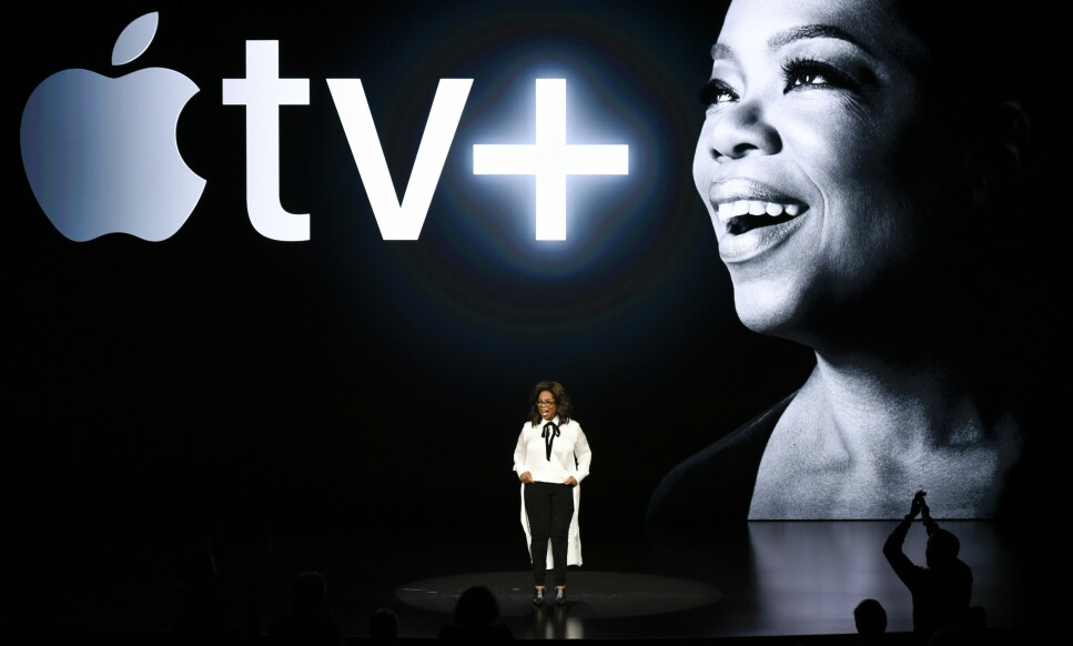 OPRAH: Store navn til tross, Apples TV-lansering var alt annet enn imponerende. Foto: Michael Short/AFP