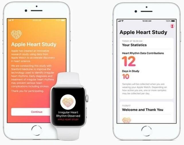 HJERTESTUDIE: Slik så varslene de som deltok i Apples hjertestudie ut. Foto: Apple