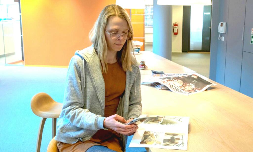 FØRSTEGANGSKJØPER: Dinside-journalist Eilin Lindvoll kjøpte nettopp sin første bolig ved å gi bud direkte til selger. Foto: Martin Kynningsrud Størbu.