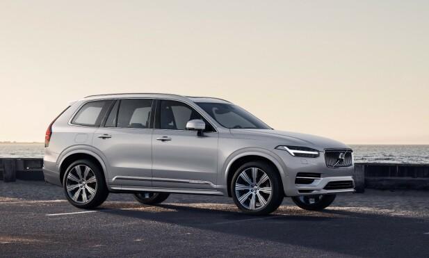INGEN REVOLUSJON: Oppgradert, men mer av det samme. Volvo XC90 i sin 2020-modell har de viktigste nyhetene på innsiden. Foto: Volvo