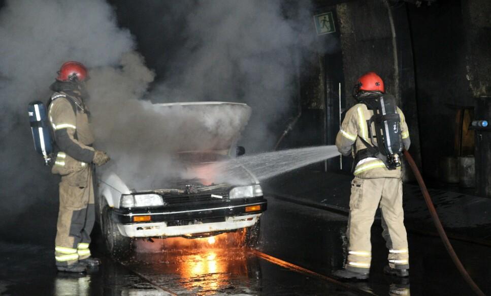 DIN EGEN SKYLD: Årsaken til økningen i branner er mer avansert utstyr og økt salting. Men dersom du aldri tar motorvask kan det bidra til brannen, tror forsikringsselskapene. Foto: Gjensidige