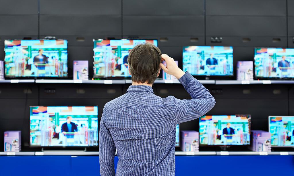 TV-TILBUD: De nye TV-ene er på vei inn i butikkhyllene og de gamle skal ut. Da kan du gjøre et kupp. Foto: Sergey Ryzhov/Shutterstock/NTB scanpix
