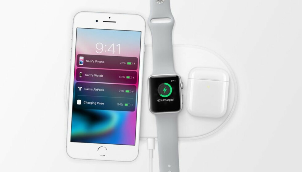 KANSELLERT: Apple bekrefter at de har kansellert utviklingen av den trådløse iPhone-laderen AirPower. Foto: Apple