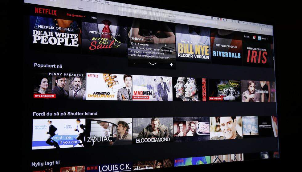 LITE NORSK INNHOLD: Forskere konkluderer med at Netflix anbefaler få norske serier og filmer. Foto: Terje Bendiksby/NTB scanpix