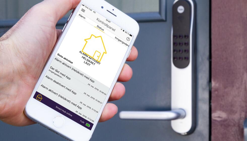 GJØR DET SELV: Med produkter fra Yale kan du lage ditt eget alarmsystem. Foto: Tron Høgvold