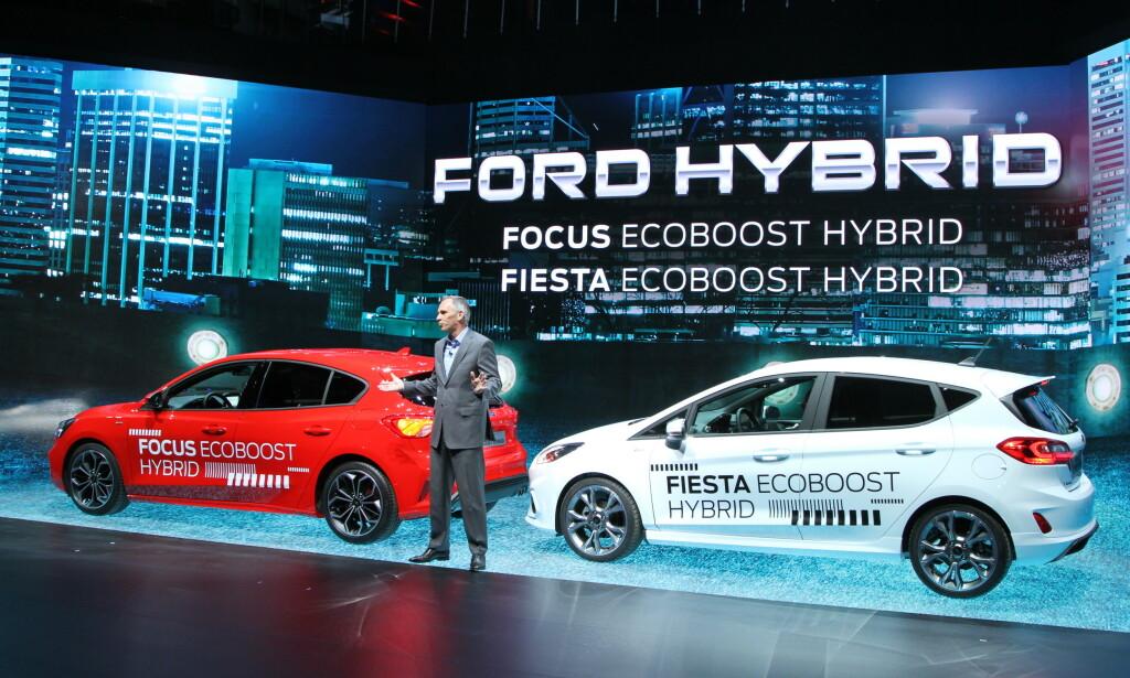 HYBRIDER: Også Fiesta og Focus får Fords nye hybridsystemer. Foto: Rune Korsvoll