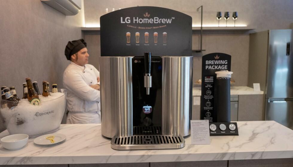 HomeBrew er LGs kapselbaserte ølbrygger. Foto: Martin Kynningsrud Størbu