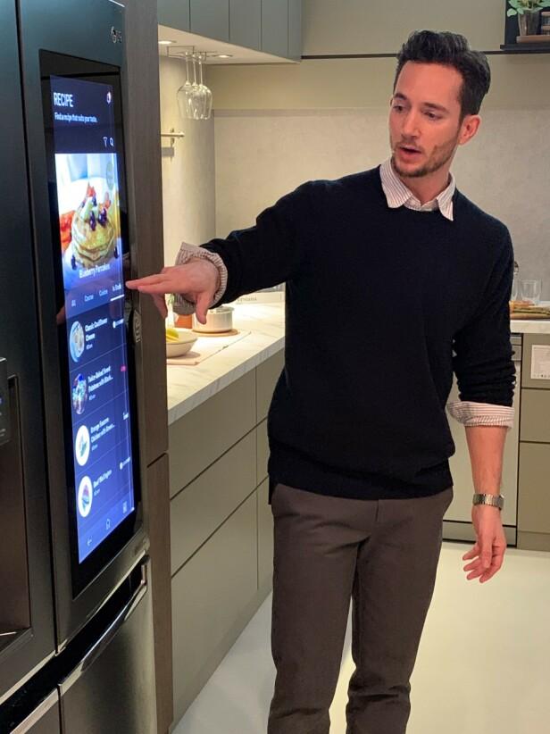 Det smarte kjøleskapet. Foto: Martin Kynningsrud Størbu