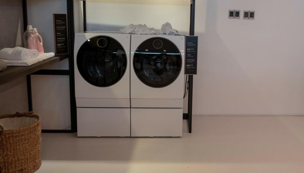 LGs smarte vaskemaskin, TwinWash ThinQ. Foto: Martin Kynningsrud Størbu