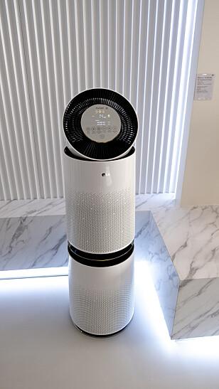 Luftrenseren starter automatisk når luftkvaliteten forverres, eller når du ber den om det. Foto: Martin Kynningsrud Størbu