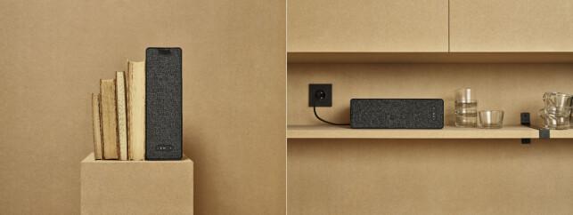 Bokhyllehøyttaleren kan plasseres stående og liggende. Foto: Ikea