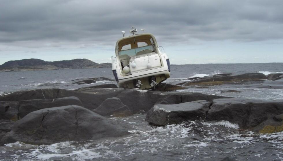 IKKE ETTER PLANEN: Grunnstøting kan gi en brå stopp, bokstavelig talt, på båtsesongen. Foto: Gjensidige.