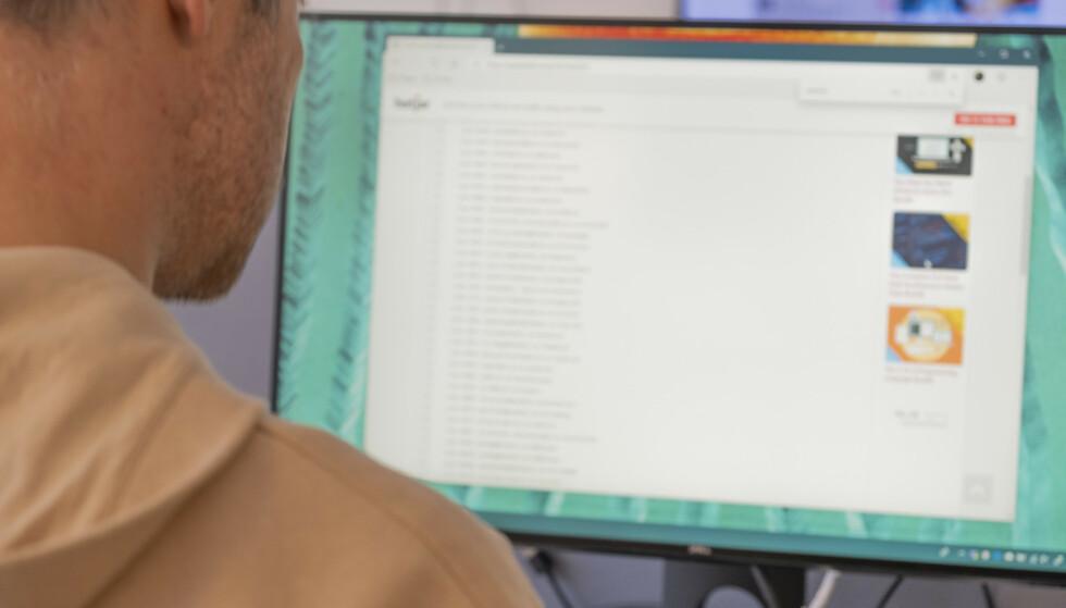 LEKKASJER: Informasjon om e-postkontoer og passord ligger åpent på nett i søkbare databaser. Foto: Martin Kynningsrud Størbu