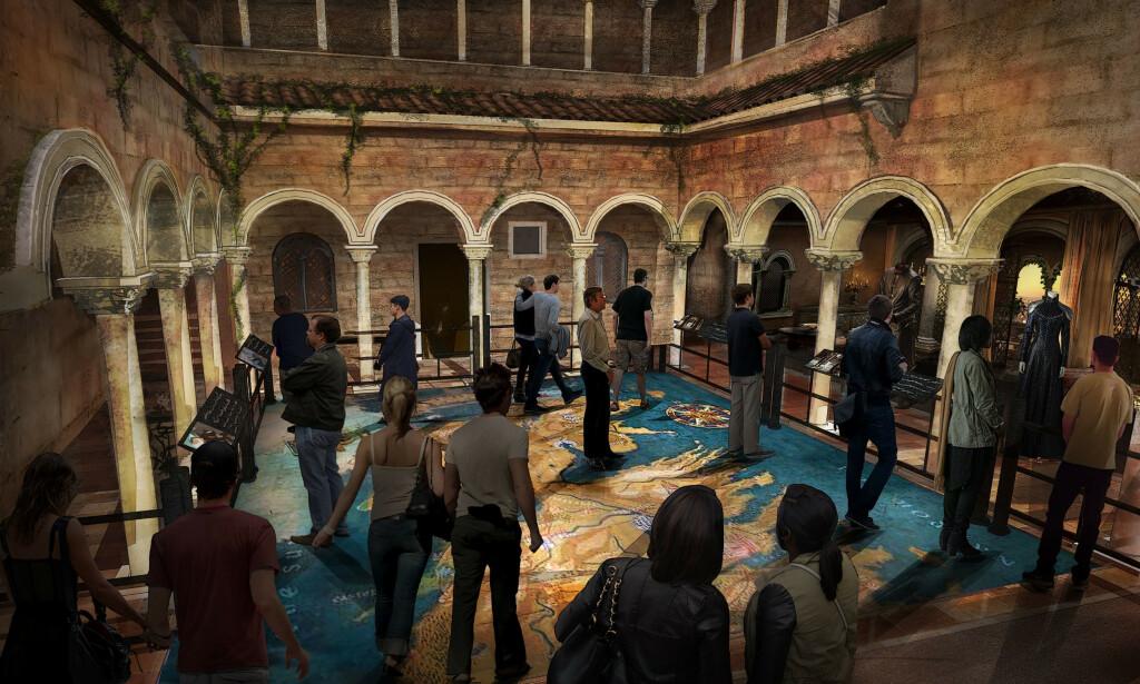 INTERAKTIVT: Besøkssenteret vil bli interaktivt, og skal ta gjestene med inn i scener og opplevelser fra fantasyverdenen. Foto: HBO