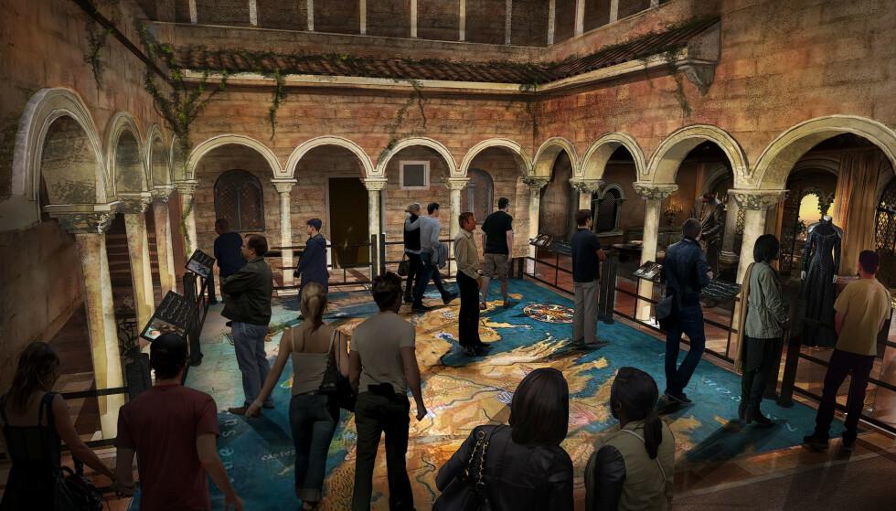 <strong>INTERAKTIVT:</strong> Besøkssenteret vil bli interaktivt, og skal ta gjestene med inn i scener og opplevelser fra fantasyverdenen. Foto: HBO