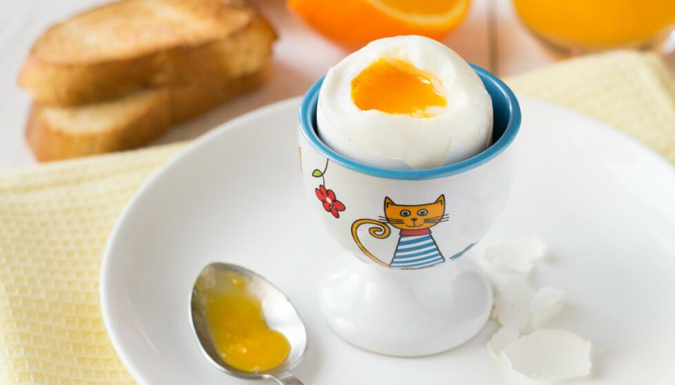 26 MILLIONER EGG: I påska spiser vi totalt 26 millioner egg. Men visste du at du bruker 80 prosent mer strøm om du koker egget på en induksjonstopp, sammenliknet med i en eggkoker? Foto: Shutterstock/NTB scanpix