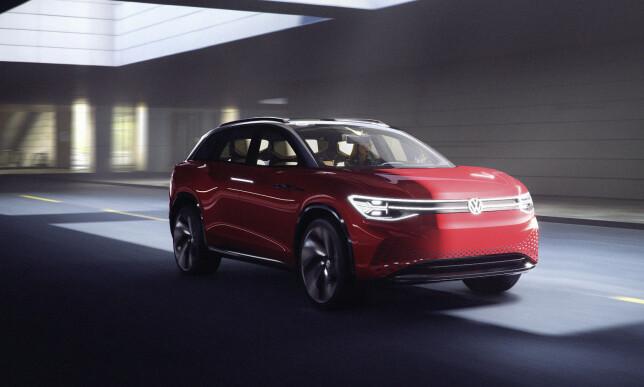 KOMMER OM TO ÅR: I denne omgang vises det femte I.D.-medlemmet, I.D. Roomzz, som konseptbil. Den plasserer seg resolutt i kategorien til Tesla Model X. Foto: Volkswagen