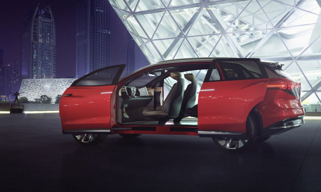 ROMSKIP: Dels SUV, dels flerbruksbil, slik fremstår I.D. Roomz i konsepts form. Foto: Volkswagen