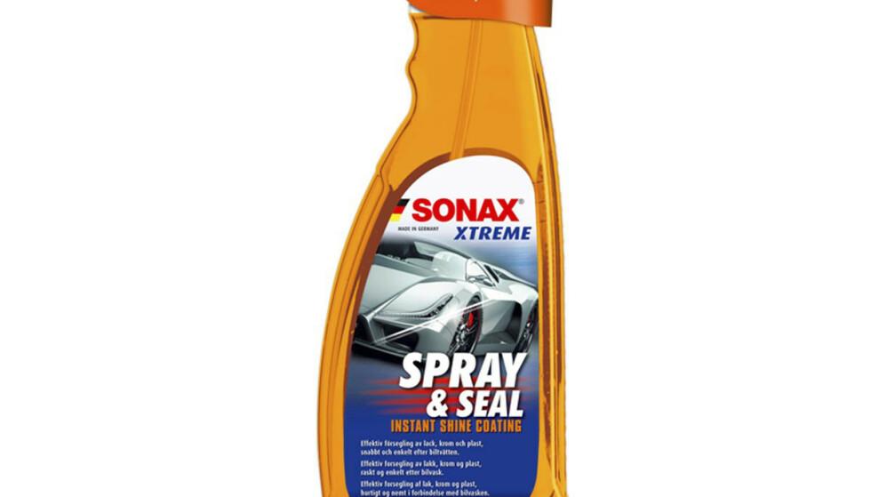 <strong>SONAX SPRAY AND SEAL:</strong> Forsegleren koster 217 kroner på nettet.