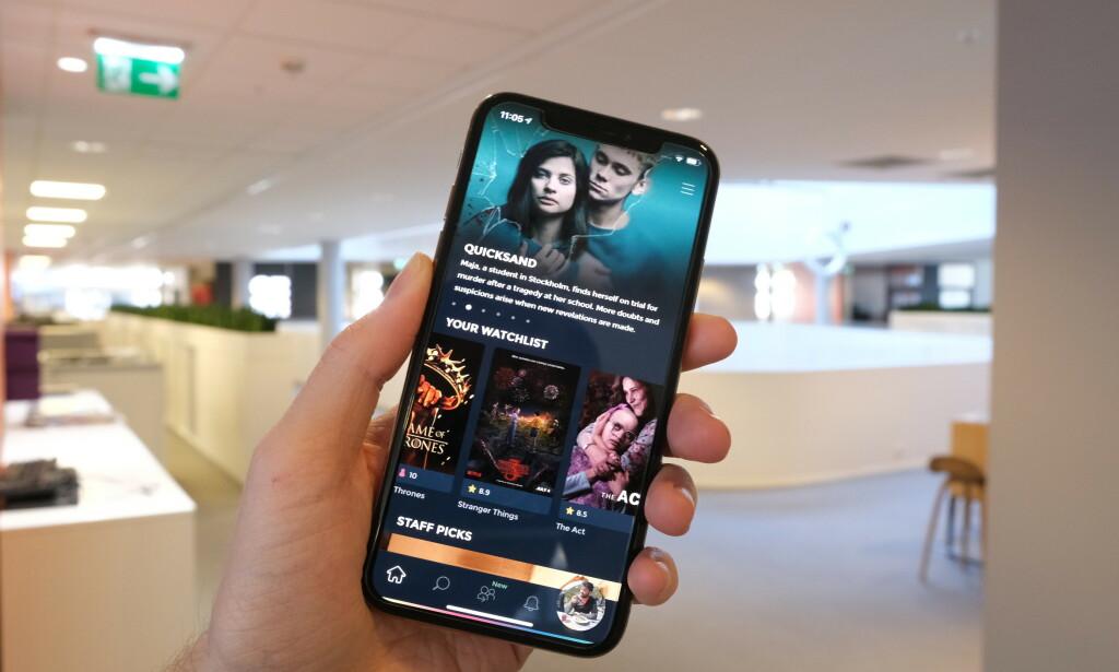 PLAYPILOT: Denne appen gjør det lett å finne filmer og TV-serier. Foto: Martin Kynningsrud Størbu