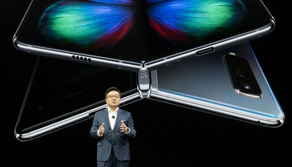 UTSETTER: Samsung kunngjør at Galaxy Fold ikke lanseres i mai som planlagt. Foto: Samsung