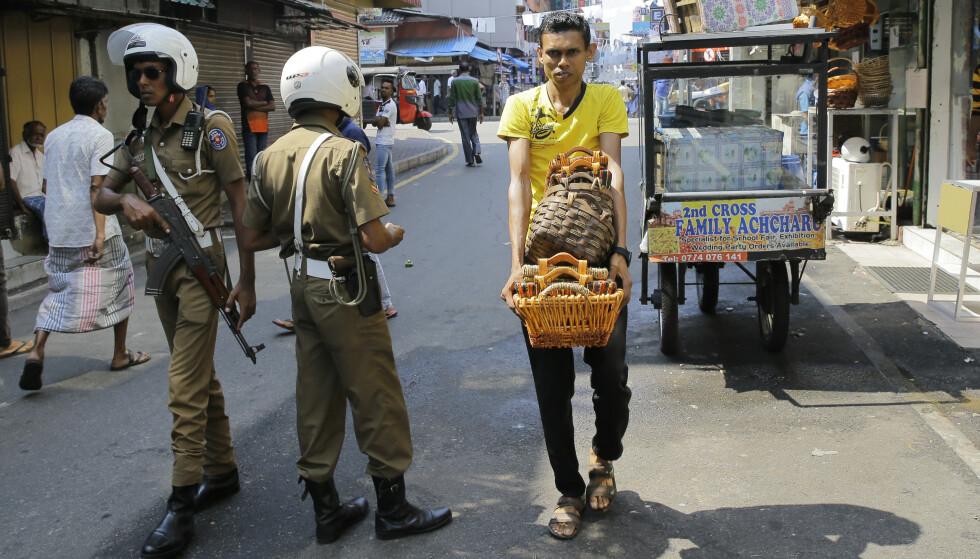 TERROR: Etter terrorhendelsene i Sri Lanka fraråder norske UD folk om å dra dit. Foto: NTB Scanpix