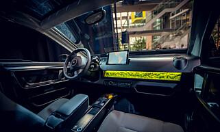MOSE I DASHBORDET: Mosen i dashbordet skal hjelpe til å rense luften i bilen. Foto: Sono Motors