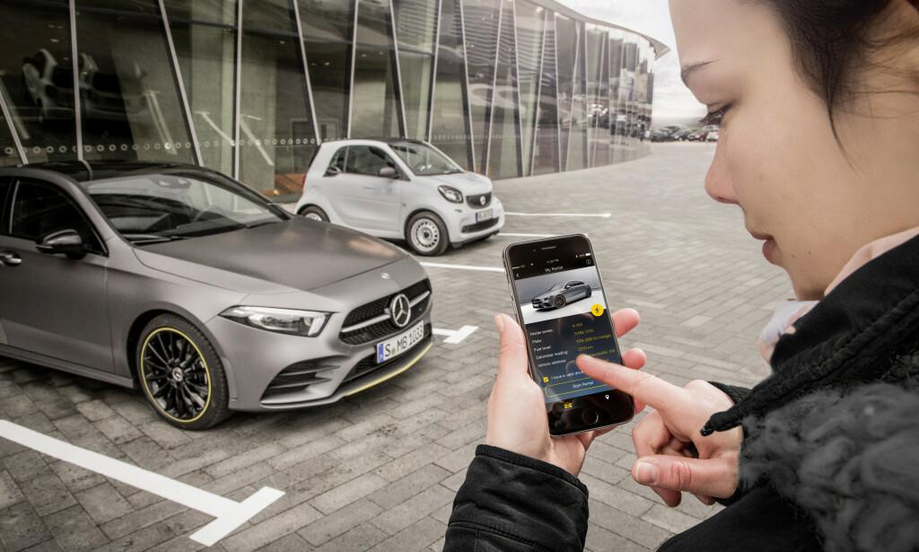 MANGE SPØRSMÅL: Ekspertene mener det finnes sikkerhetsmessige og praktiske forhold som må avklares, før alle bilprodusenter tar i bruk en digital nøkkel. Foto: Mercedes-Benz