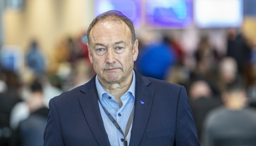 Kommunikasjonssjef Knut Morten Johansen i SAS. Foto: Ole Berg-Rusten / NTB Scanpix
