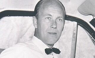 BELTETS FAR: Før han kom til Volvo i 1958, jobbet Nils Bohlin med katapultseter og flygernes sikkerhet i den svenske flyindustrien. Ideen til beltet i bil tok han med seg herfra. Foto: Volvo