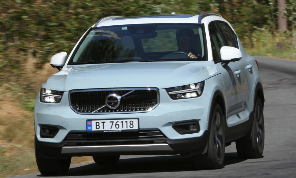 BESTE BIL TIL Å TREKKE CAMPINGVOGN: Ifølge britiske Caravan and Motorhome Club er Volvos XC40 totalt sett den beste bilen til å trekke henger i 2020. Foto: Jamieson Pothecary