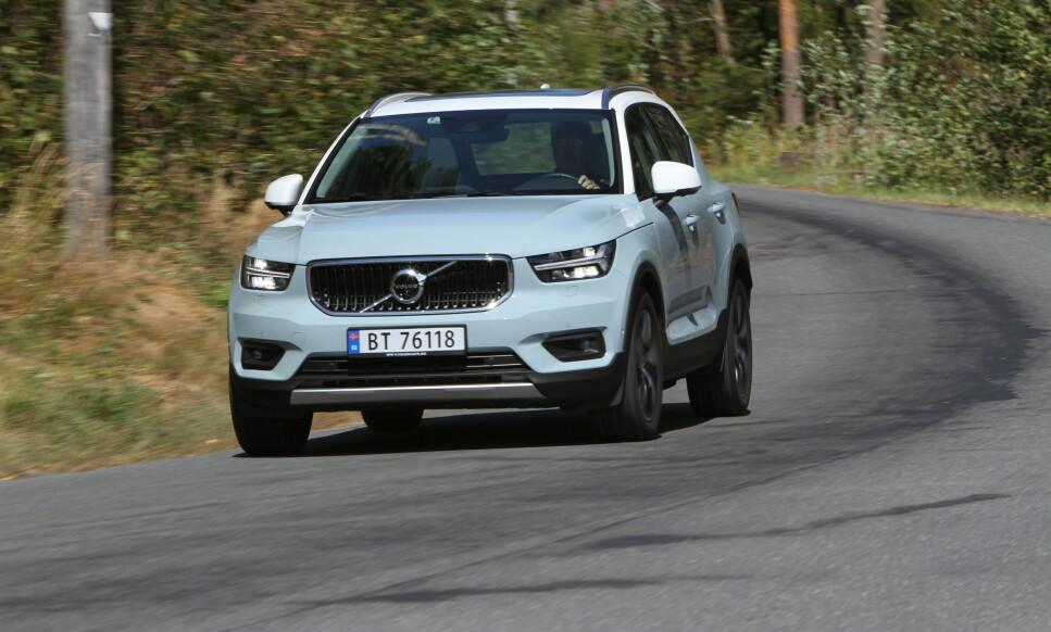 SUVERENT: På grunn av SUV-ene sine, som XC40 (bildet), har Volvo opplevd en ekstrem global vekst de siste årene. Foto: Jamieson Pothecary