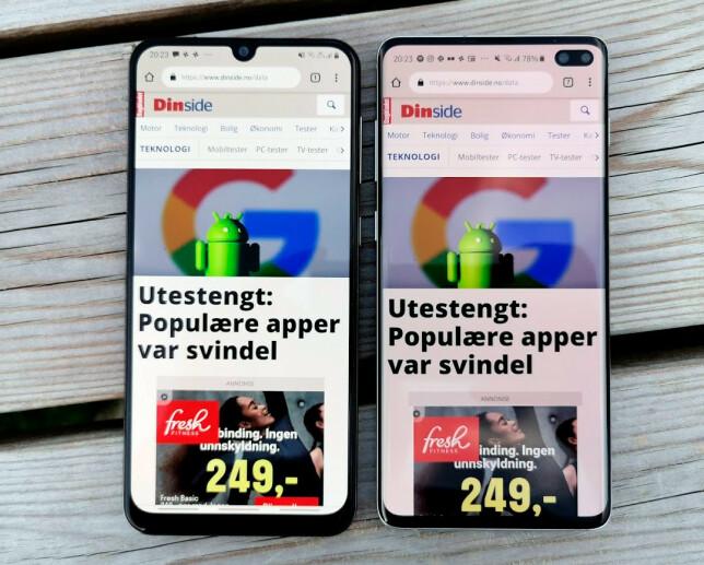 LANGT RIMELIGERE: Det er lite som vitner om at telefonen til venstre koster en tredel av den til høyre ved første øyekast.