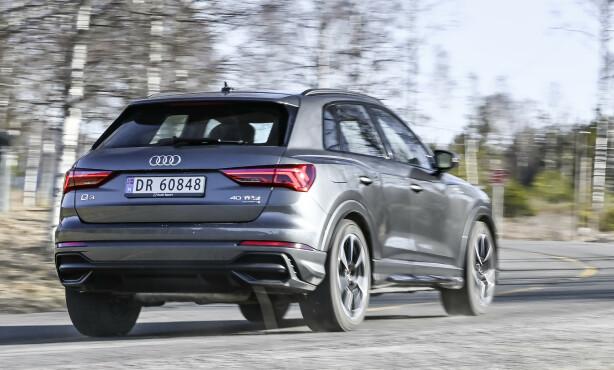 Audi Q3: Q3 har blitt morsomt å kjøre, så lenge du velger S Line-understell og 20-tommer hjul. Foto: Jamieson Pothecary
