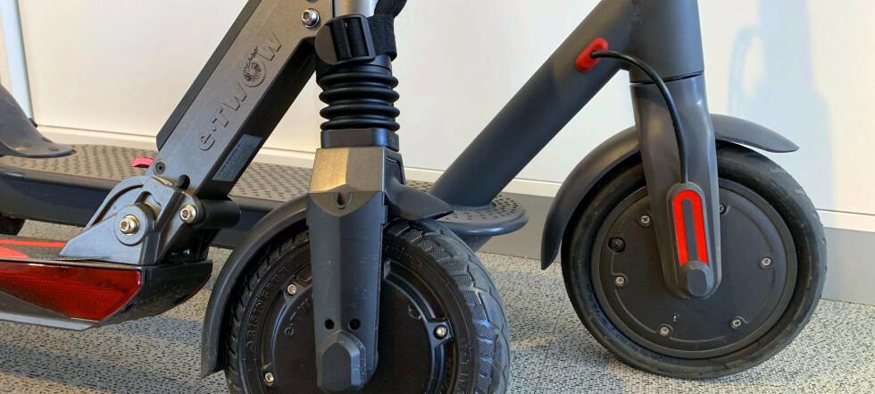 Duell: Billig mot dyr el-sparkesykkel