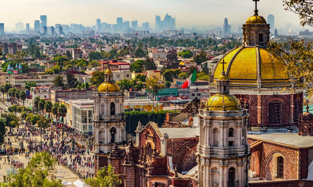 MEXICO CITY: Den meksikanske hovedstaden tilbyr billige hotell, men reisen er lenger enn til andre land. Foto: Shutterstock/NTB Scanpix.