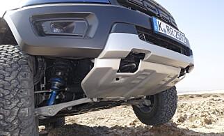 STORE ENDRINGER: Stålplata er dobbelt så tykk som på Ranger, og hele hjulopphenget er annerledes.